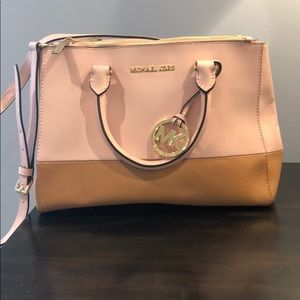 Michael Kors Bags - MK pink and brown bag and wallet combo